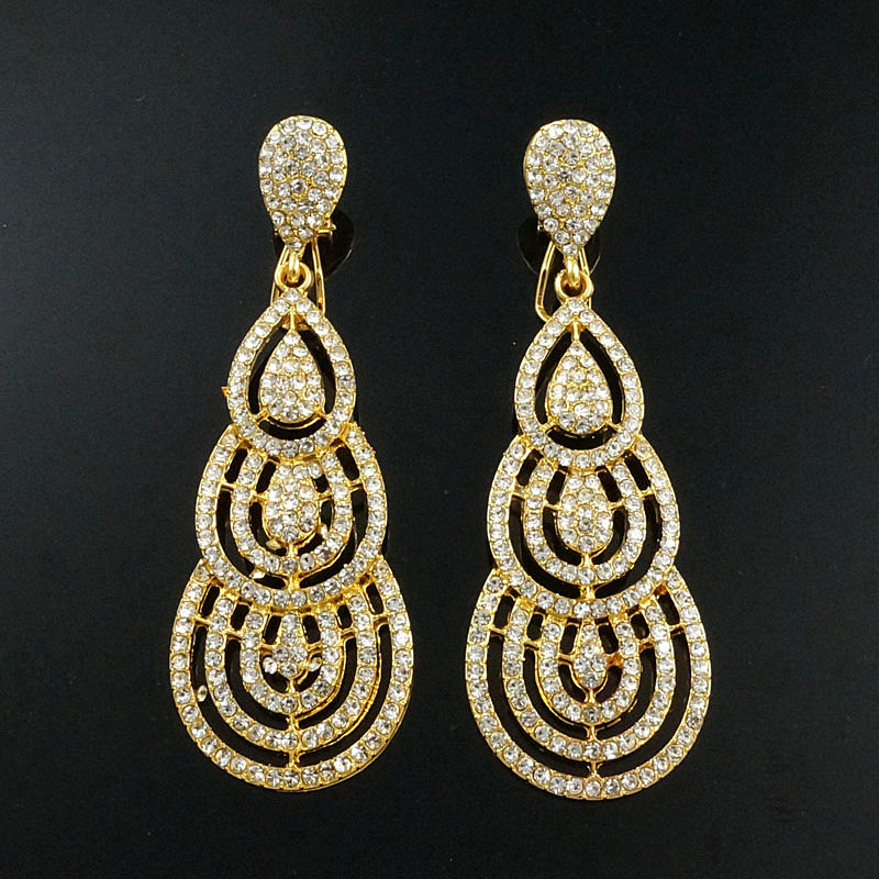 sex mama drop earrings jewelry earrings gift gold Rhinestone big earrings crystal earrings wholesale price