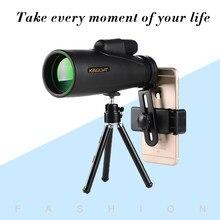KINGOPT-monoculares con zoom 12x50 para teléfono inteligente, monoculares de gran potencia, clips, visión nocturna, telescopio