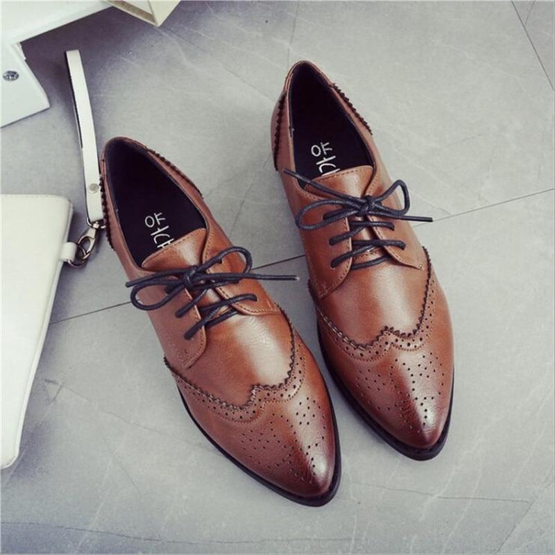 Brogue Oxford Shoes Women Flats New Spring 2016 Fashion Women Flat Shoes