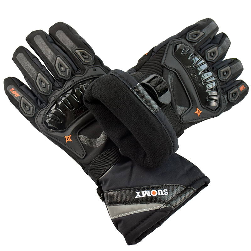 New Keep warm full finger 100% Waterproof Motorcycle Gloves Winter Touch Screen Racing Gloves Motosiklet guantes de moto M~XXL