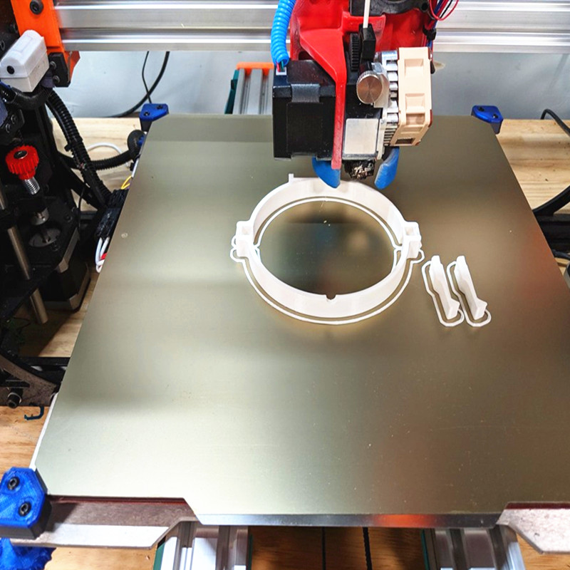 ENERGETIC PEI Flexible 3D Printer Heated Bed, PEI Sheet 3D Printer Platform, Removable 3D Printer Spring Steel Sheet Heat Bed