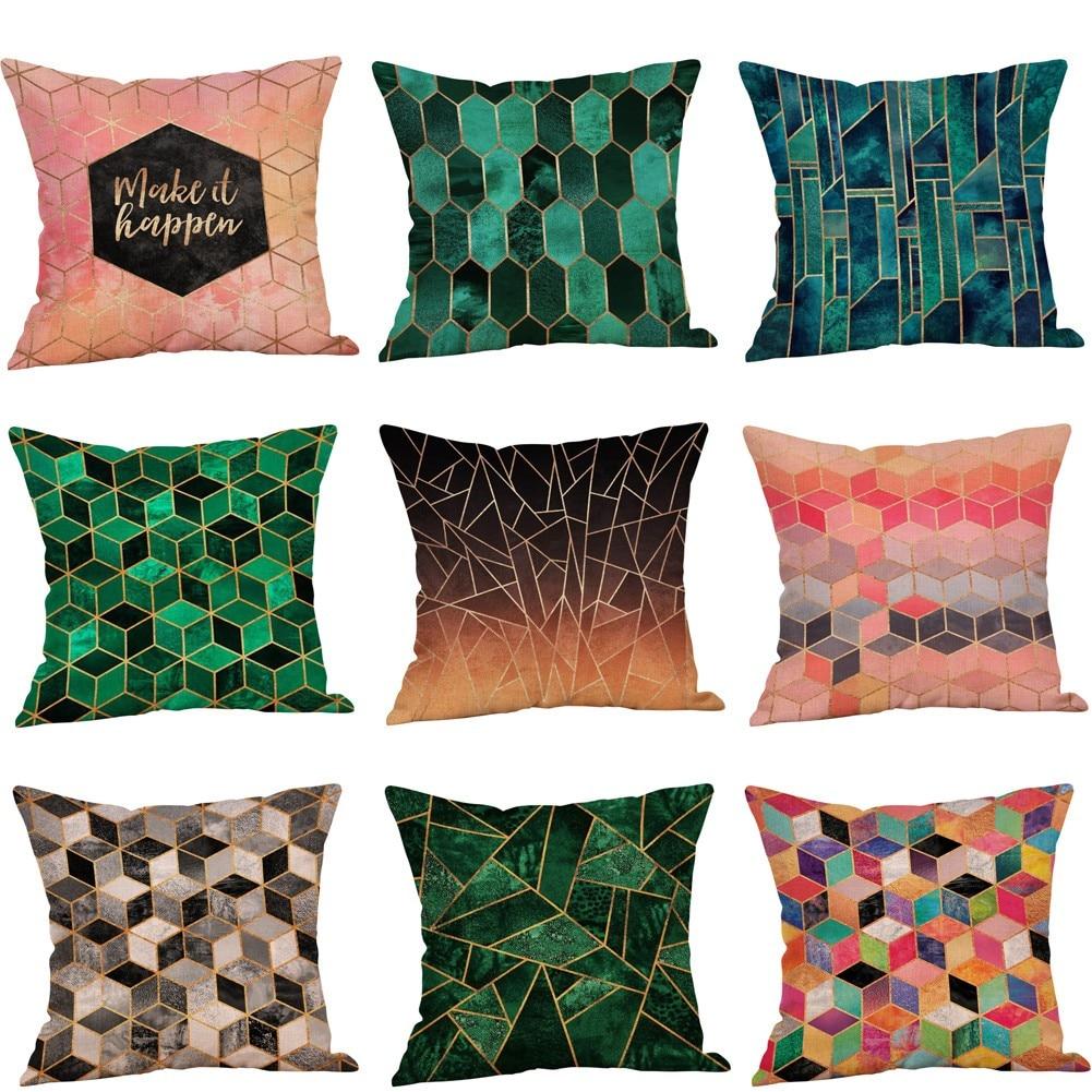 High Quality Car Printed Cotton Linen Blackout Curtain: Fashion Geometric Printed Cotton Linen Pillow Cover High