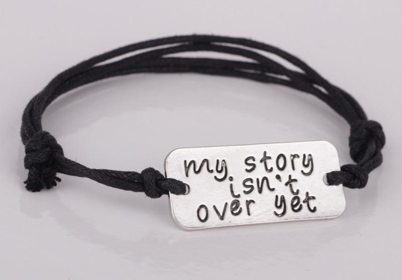 Fashionable Letter My Story isn't Over Yet Bracelets Silver Plated 100% handmade bracelet women jewelry YLQ0162