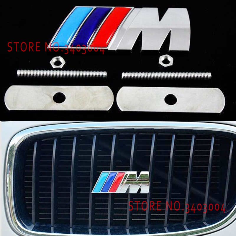For BMW M3 e39 e90 e46 e60 f30 36 f10 f20 M Motorsport 3D Metal Car Sticker Rear Trunk Emblem Grill Badge Sticker accessories auto chrome camaro letters for 1968 1969 camaro emblem badge sticker