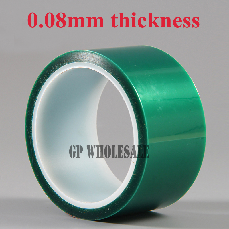 155mm*33 meters*0.08mm Single Side Heat Resistant Adhered PET Polyester Film Tape for PCB Plating Welding 110mm 33 meters 0 08mm single side heat resist sticky pet polyester film tape for protection