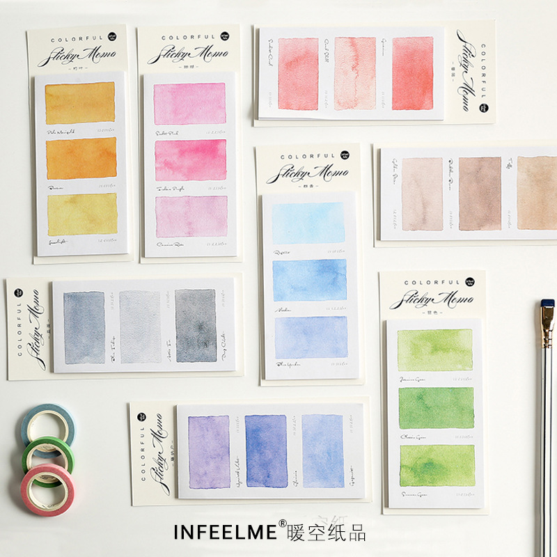 Various Colors Self-Adhesive N Times Memo Pad Sticky Notes Bookmark School Office Supply