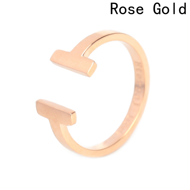 for women Jewelry Titanium steel 2018 New Infinity opening Cool ring color Gold rings Double T brand jewelry