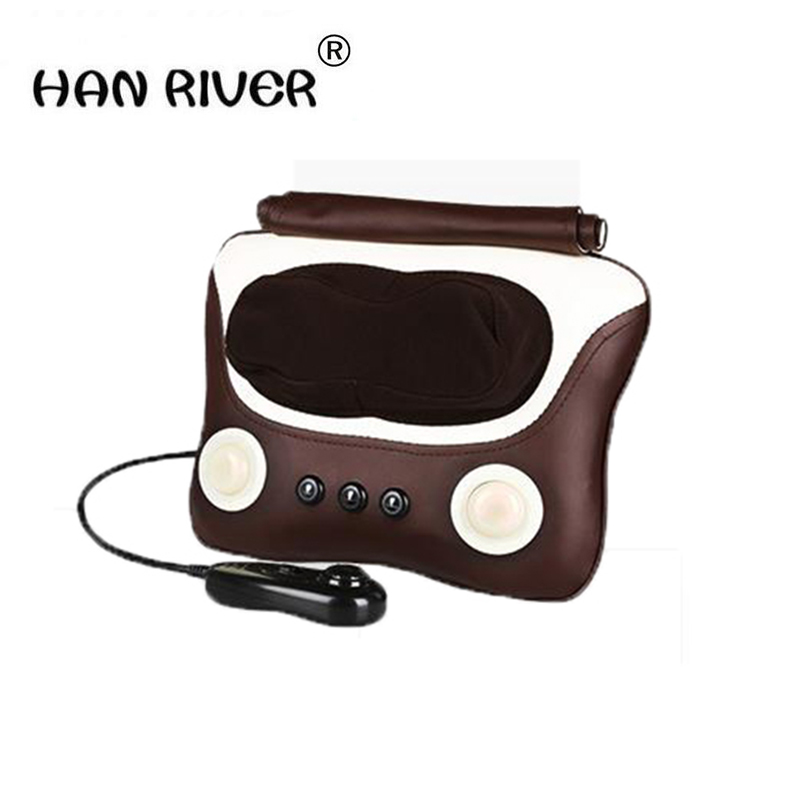 HANRIVER Household multifunctional cervical lumbar massage neck lumbar back shoulder massage pillow cushion for leaning on цена