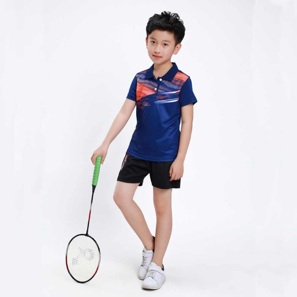 バドミントンシャツ子供シャツ卓球ジャージ通気性クイックドライテニス Tシャツジャージーボーイズスポーツウェアトラックスーツ XS-3XL