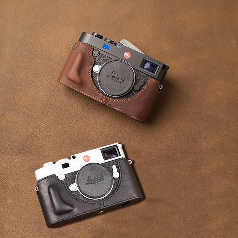AYdgcam Brand Genuine Leather Handmade Camera Case Bag Half Body Bottom Cover For Leica M10 Camera