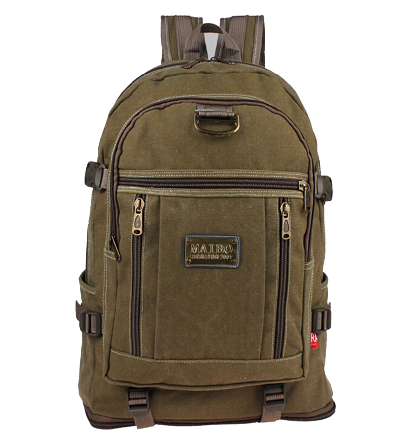 Large Capacity Canvas Travel Backpacks With Retractable Bottom
