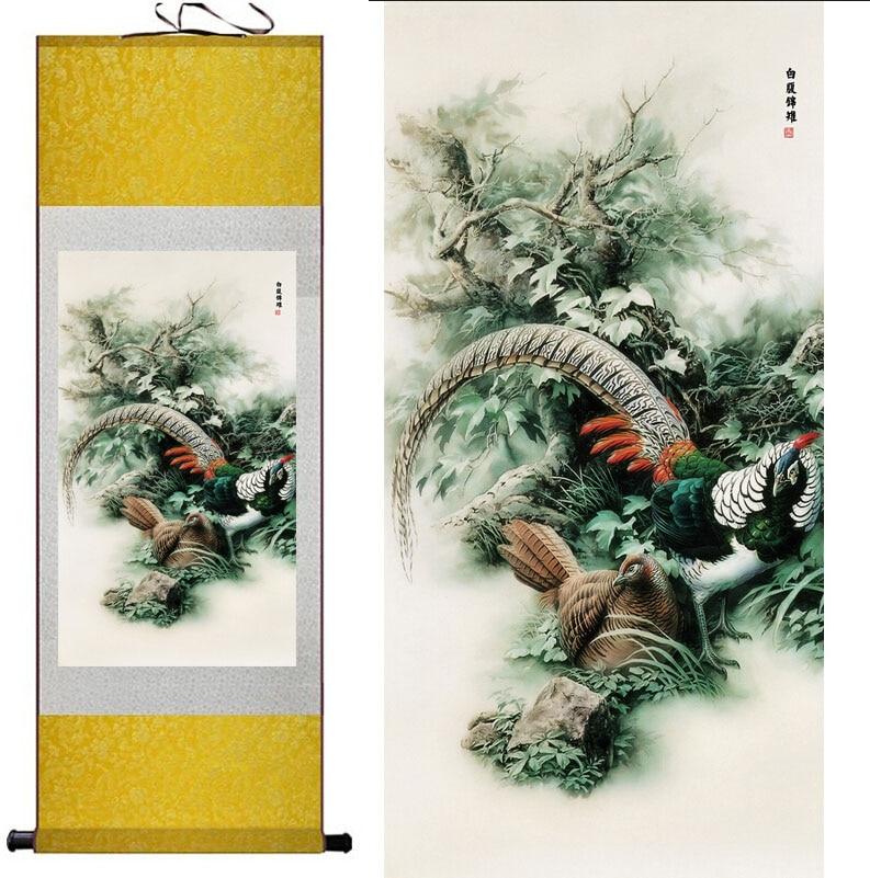 Burung Lukisan Rumah Kantor Dekorasi lukisan gulir Cina burung - Dekorasi rumah - Foto 2