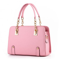 MONNET CAUTHY New Fashion Female Bag Candy Color Beige Pink Lavender Blue Red Totes Crossbody Office