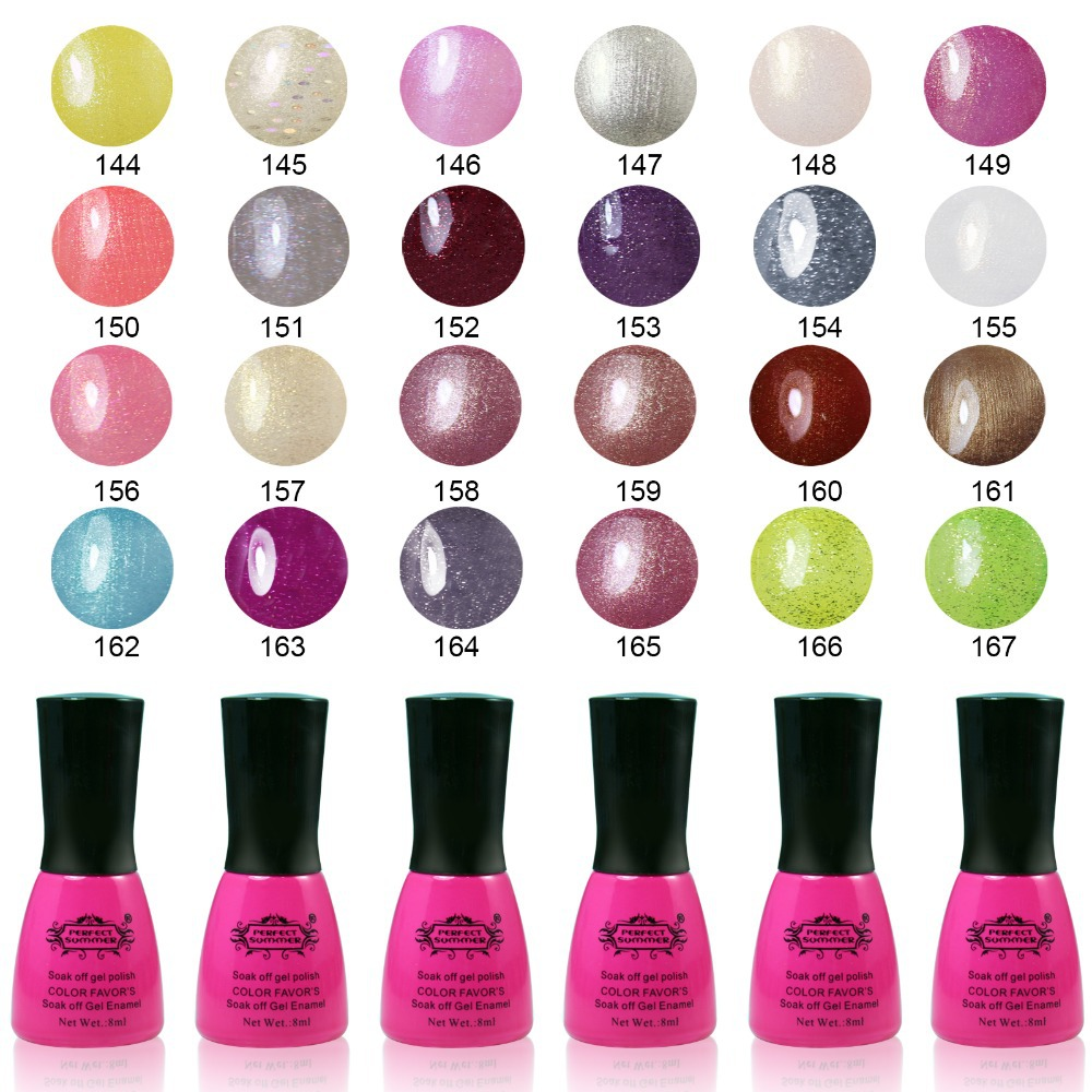 Perfect Summer Gel Nail Polish UV Promotion 8ml Soak Off Nail Long ...