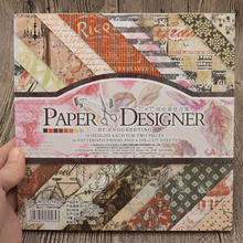 7x7inch 40 Sheets Vintage Scrapbooking Paper Pad Origami Art Background Card Making Craft