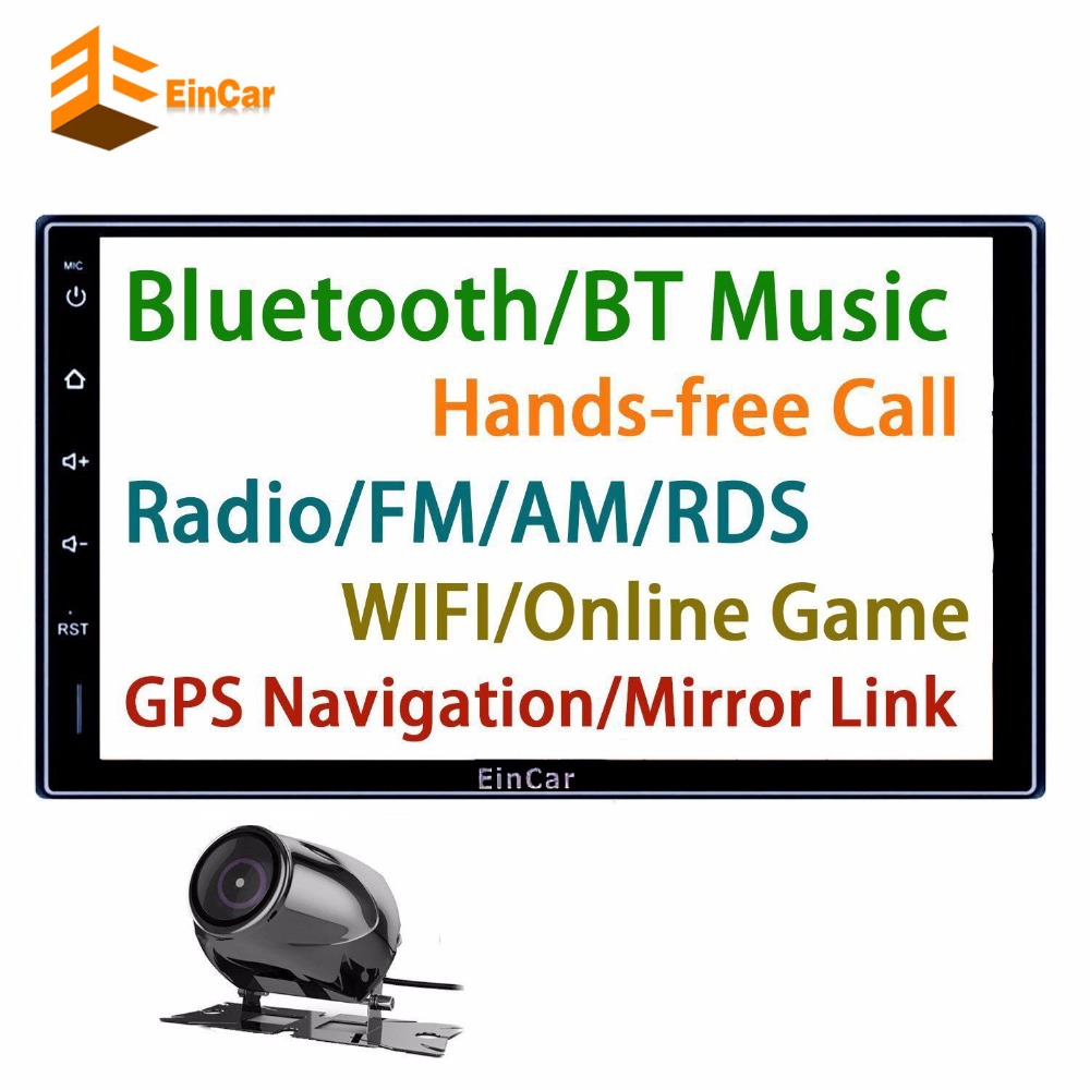 Double 2 Din Android 5 1 1 Lollipop 7 Universal in dash bulebooth Car autoRadio Quad