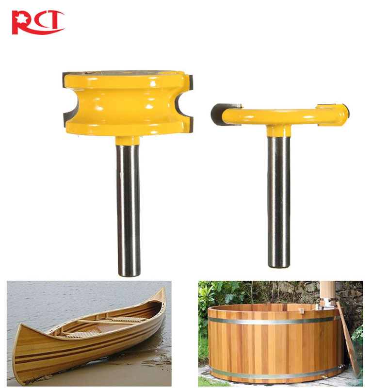 "2 pcs 1/4\"" Diameter Canoe Flute and Bead Router <font><b>Bit</b></font> set Woodworking Cutting Tools-1/4\"" Shank"