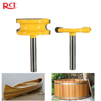Binoax 2 Pcs 1 4 Diameter Canoe Flute And Bead Router Bit Set Woodworking Cutting Tools