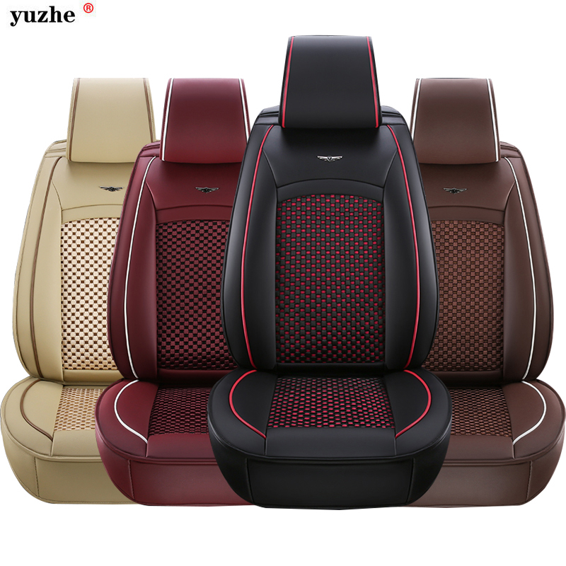 Yuzhe Brand Universal Luxury PU Leather Car Seat Cover For Toyota All Models Corolla Camry Rav4