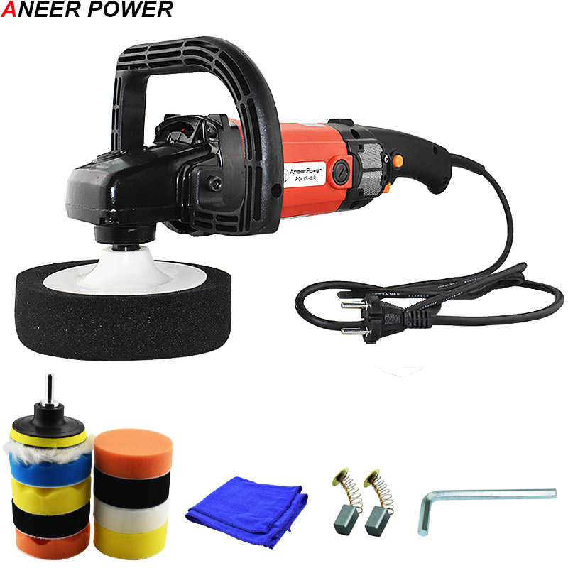 1400W Car Polisher Variable Speed 3000rpm 220V Electric Floor Polisher Polishing Machine Auto Politriz Sanding Machine Eu Plug