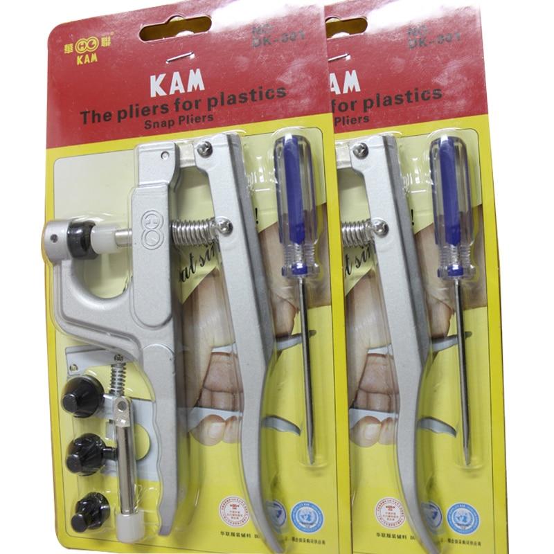 10 Pcs/Lot Kam En Plastique Bouton Pression Pince DK-001 Métal Pression S'enclenche Attaches Machine S'enclenche Kit Bijoux Machine Outil pour T2 T3 T5 T8