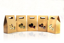 50pcs kraft paper bags/boxes Paper brown stand up window for wedding/Gift/Jewelry/Food/Candy Storage Packing Bags