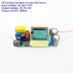 CE сертифицировано изолированный 10 Вт 900ma DC 9 В-18 В светодиодный драйвер 1 Вт высокое Мощность LED Бусины DIY Питание AC 110 В 277 В для светодиодные фо...