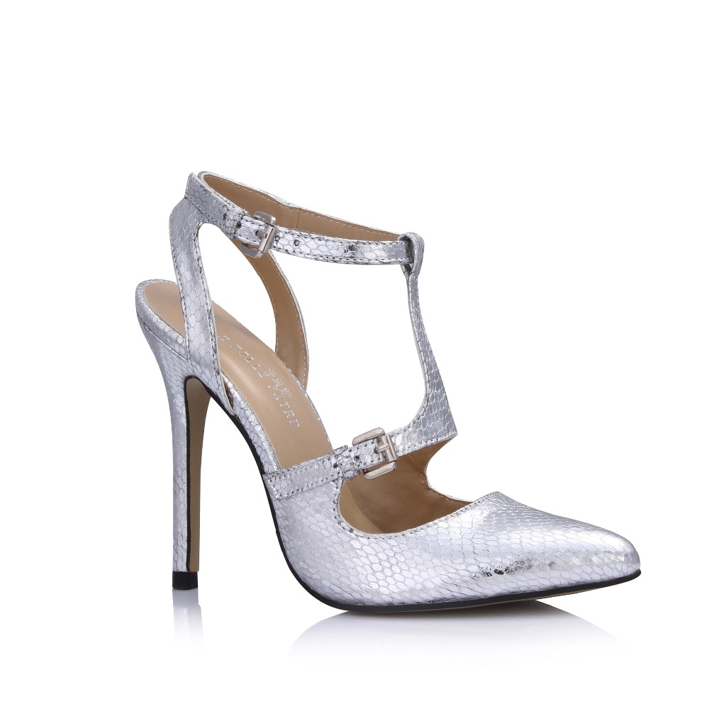 2016 sexy pointed toe gladiator T-strap pumps fashion cut-out stiletto high heels shoes ladies buckle party wedding shoes summer ladies red shoes 2018 spring patent cross straps gladiator pointed toe sandals women high heels party wedding pumps shoes 43