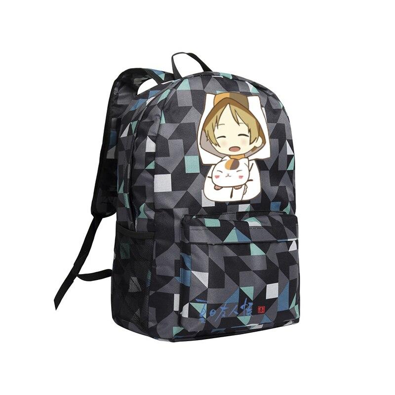 Zshop Anime Backpack Children Bookbag Kids Nyanko Sensei Mochila Women Travel Bag Natsume Yuujinchou natsume yuujinchou cool pu anime nyanko sensei wallet long style purse with zipper