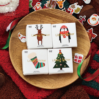 Christmas Surprised Merry Christmas Decorative Stickers Scrapbooking Stick Label Diary Stationery Album Stickers легкая шубка из вязаной овчины