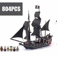New Pirates The Black Pearl fit legoings Pirates of Caribbean ship Building Blocks bricks 4184 gift kid set boy diy toys