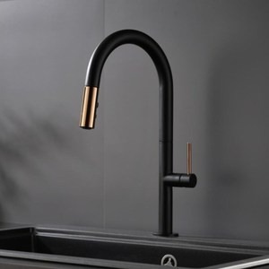 Image 2 - Newly Arrived Pull Out Kitchen Faucet Rose gold and White Sink Mixer Tap 360 degree rotation  kitchen mixer taps Kitchen Tap