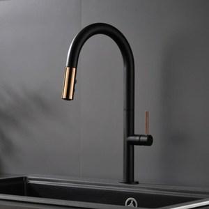 Image 2 - Nieuw Aangekomen Trek Keukenkraan Rose Goud En Wit Sink Mengkraan 360 Graden Rotatie Keuken Mengkranen Keuken tap