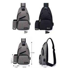 Men USB Charge Interface Chest Bag (3 colors)