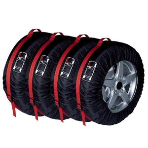Image 2 - 4 uds. Funda de neumático de repuesto, poliéster, invierno y neumático de coche de verano, bolsas de almacenamiento, accesorios para neumáticos de coche, Protector de ruedas de vehículo