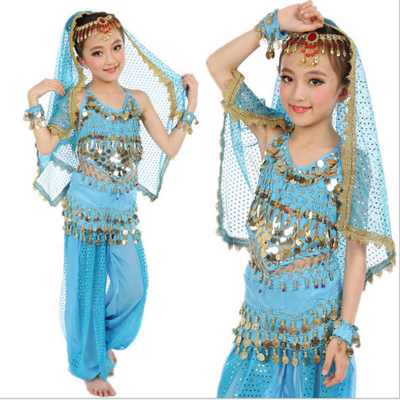2016 High quality cheap Indian dance dress child belly dance costume on sale NMMG23