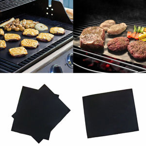 Image 4 - 1X Reusable Copper Non stick Chef Grill Bake Mats BBQ Pad Tool Camping Hiking Home Outdoor For Party Grill Mat Tool dropshipping