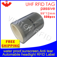 UHF RFID tag sticker vehicle lighting EPC6C 915m868m860 960MHZ M4QT 500pcs free shipping waterproof adhensive passive RFID label