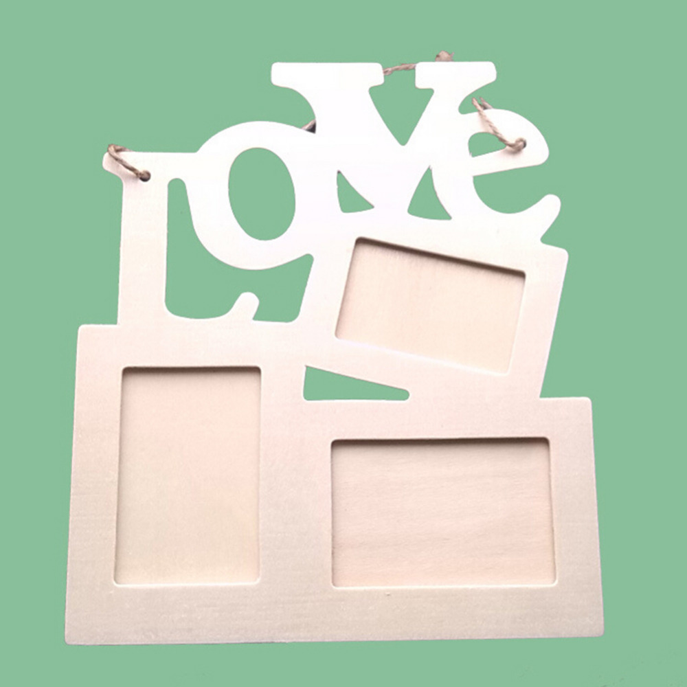 Us 169 23 Offhot Sale Diy Wall Photo Picture Frame Modern Wooden Two Models Love Photo Frame 3 Photos Window Home Decoration Art In Frame From