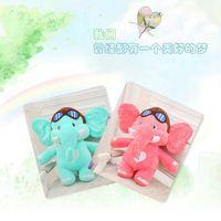 lovely cartoon flying elephant plush toy soft throw pillow birthday gift w5236