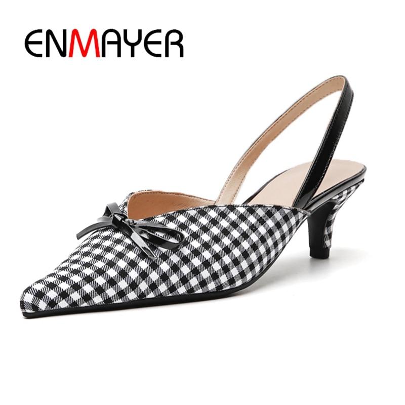 ENMAYER Slip On Casual Rubber Sandalias Mujer 2019 Woman Shoes Sandalia Feminina Size 34 40 ZYL2562