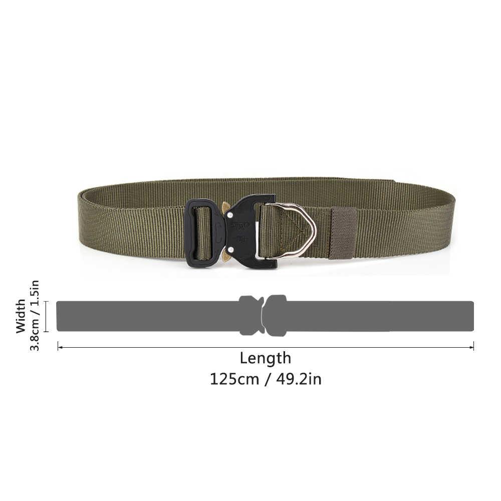 Lixada Zware Jacht Tactische Riem Verstelbare Nylon Militaire Tactische Riemen met Metalen Gesp Jacht Accessoires