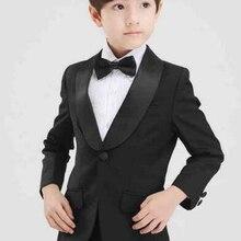 Шаль лацкан детский свадьбы строгий костюм; для жениха смокинги с цветочным принтом для маленьких мальчиков, Детский комплект из 2 предметов