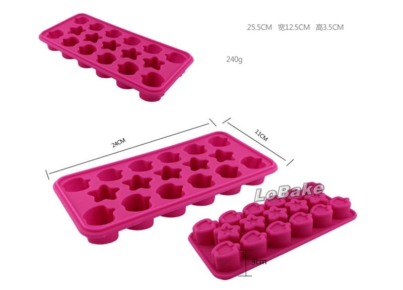 Stars 12 Cavity Ice Cube Silicone Mold