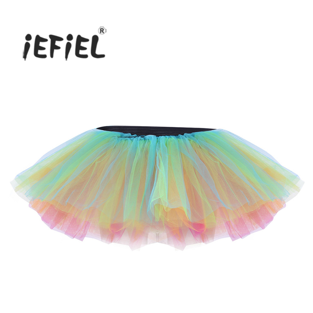iEFiEL Women Adult Multi-layers Professional Ballet Tulle Tutu Skirt for Women's Girls Costumes Party Ballet Dancer Skirts