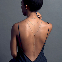 Модный новый дизайн хрустальный фон ожерелье задняя цепочка золотой серебряный цвет платье с открытой спиной аксессуары ювелирные изделия...