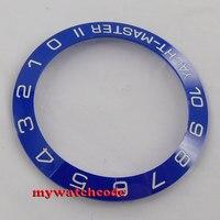 42mm Blue Ceramic Bezel Insert For 44mm GMT Mens Watch Be2