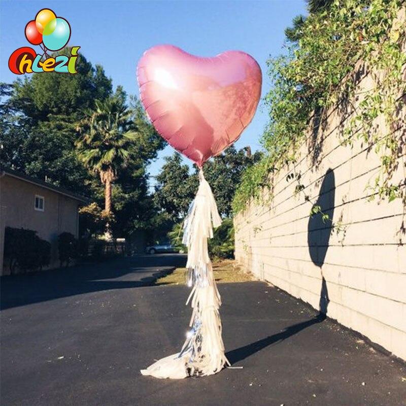 32 дюйма 75 см «любящее сердце» Форма алюминиевой фольги Воздушные шары на день рождения вечерние украшения воздушный шар с гелием свадебное украшение чистое Globos-5
