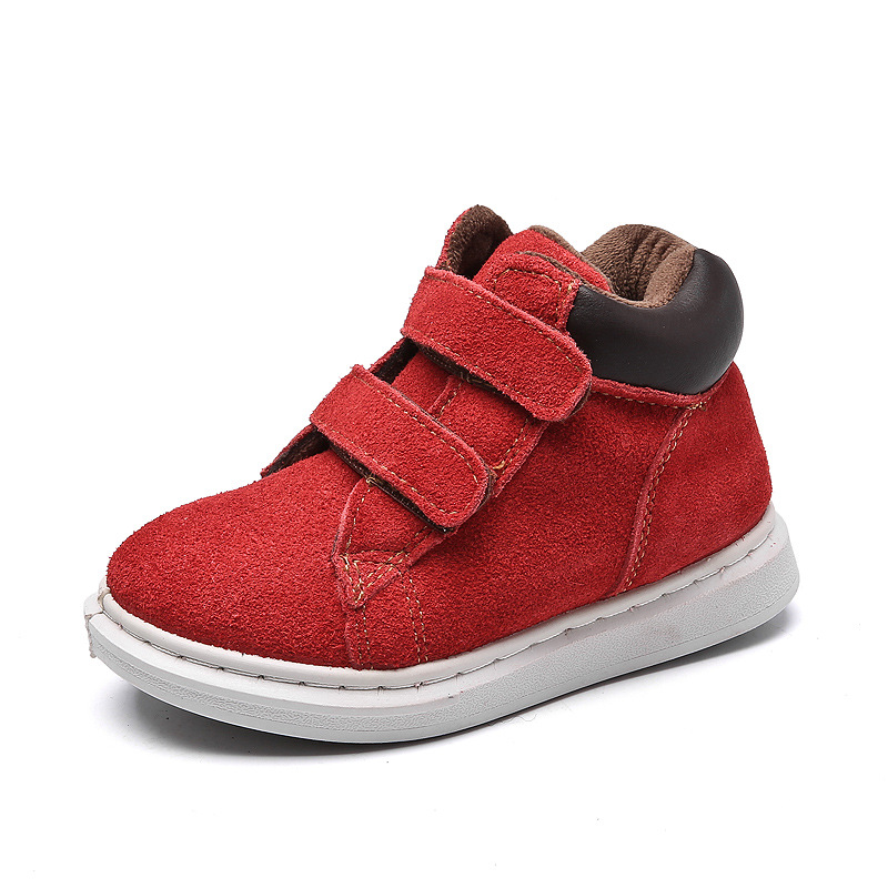 Kalupao New Arrive Autumn Winter Children Shoes Warm Genuine Leather Kids Winter Boots for Girls TPR Soft Unisex Kids Ankle Boot mulinsen new arrive 2017 autumn winter men