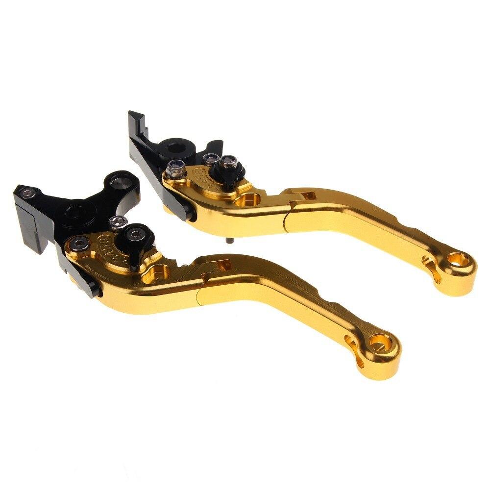 ФОТО CNC Adjustable Short Folding Brake Clutch Lever For XT 660 R X 2004 2005 2006 2007 2008 2009 2010 2011 2012 2013 Gold